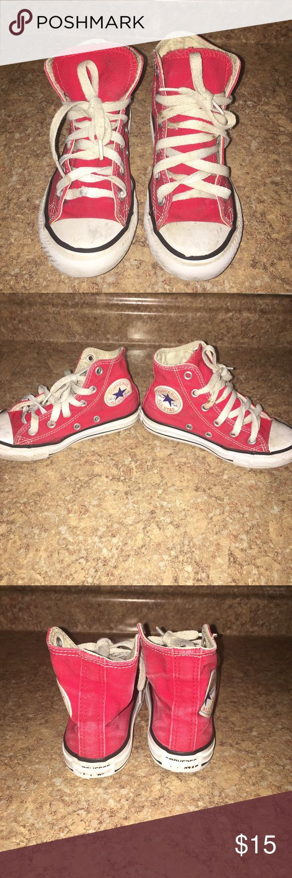 Kids Converse Kids size 11 converse. Used in red have been cleaned. Converse Shoes Sneakers