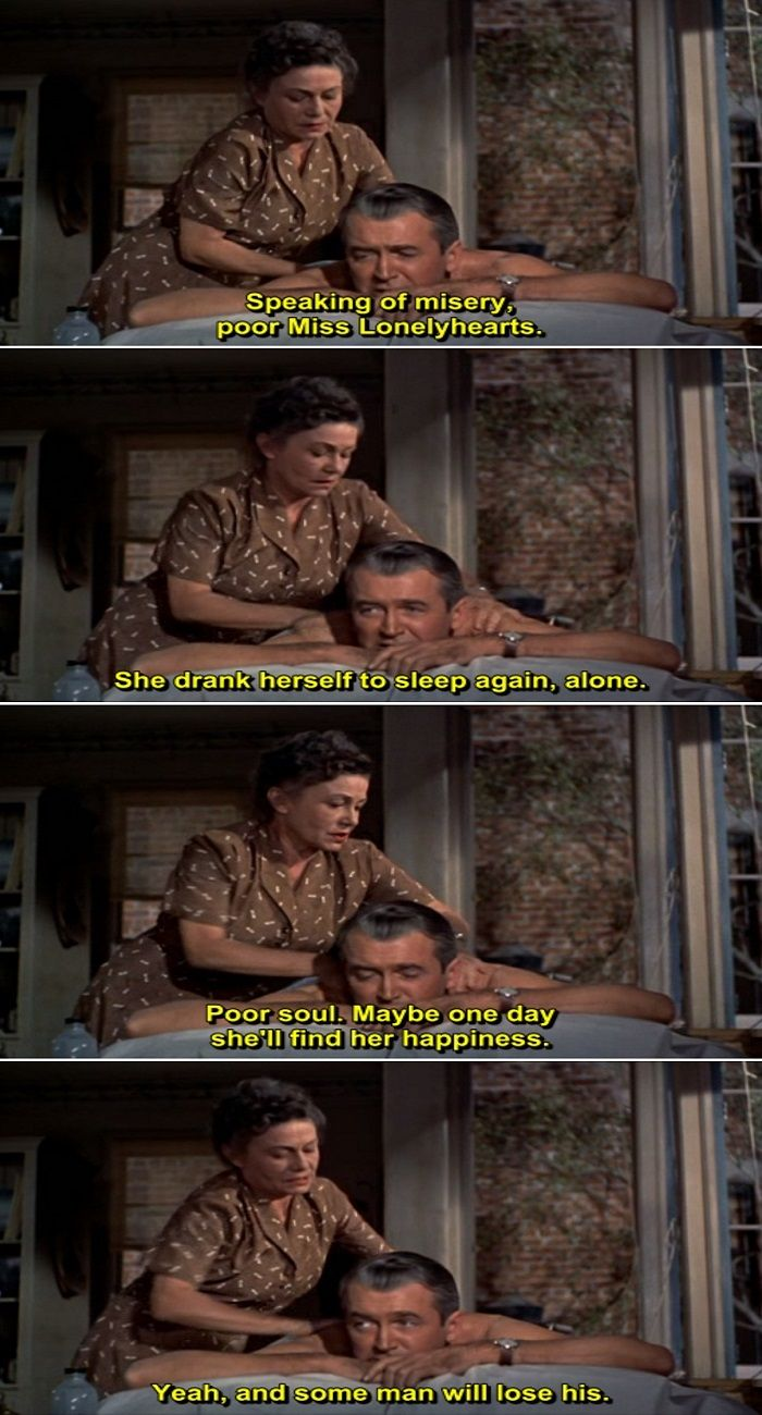 rear window and quote give context The rear window homage trope as used in tropes shared by the rear window homage and rear window itself include and he was planning to give some to his.