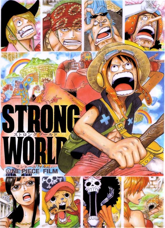 Movie Poster One Piece | anime | manga | monkey d. luffy, roronoa zoro, nami, usopp, sanji, chopper, nico robin, franky, brook