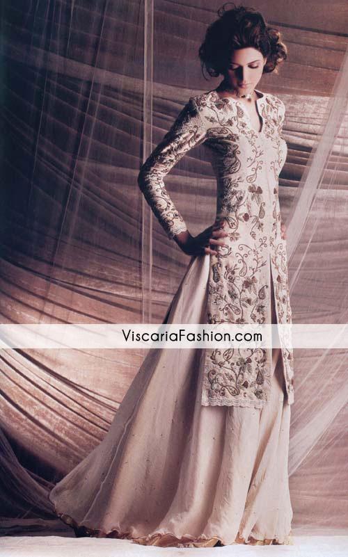 Beige Bridal Wear Sharara Formal Dresses Party Wear Pakistani Formal Wear Party Dresses Casual Anarkali Pishwas Bridal Wedding