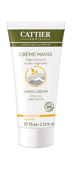 Crema de manos de arcilla blanca de Cattier, para hidratar las manos secas y agrietadas - Ecobelleza, cosmética ecológica certificada