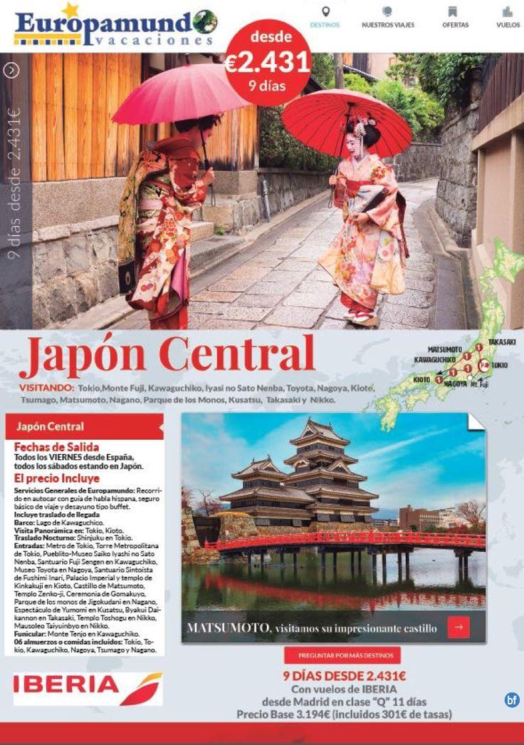 Japon Central: 9 dias precio base 2.431E