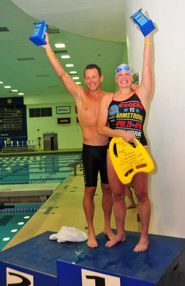When Mary Eggers set out to raise money for Teens Living With Cancer, she reached out to Lance Armstrong on social media and challenged him to a duel in the pool, which led to an experience Mary will never forget.