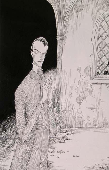Chris Riddell, illustration from Neil Gaiman's 'The Graveyard Book'