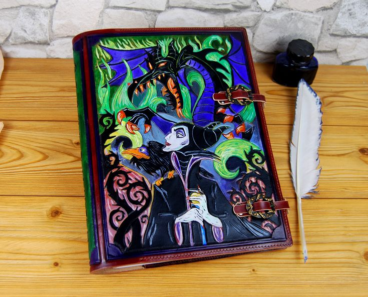 Maleficent Large Leather Journal Gift A4 Leather Journal Book Cosplay Custom Journal Personalized Journal Notebook by TiVergy on Etsy