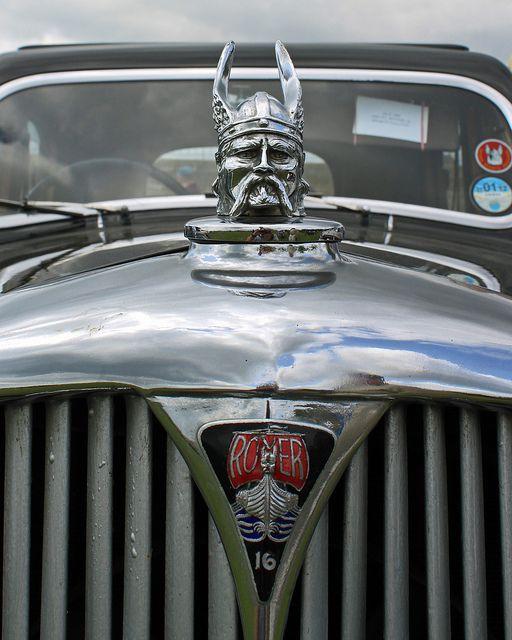 Rover vintage mascot, bonnet, windscreen, badge, emblem, via Flickr.