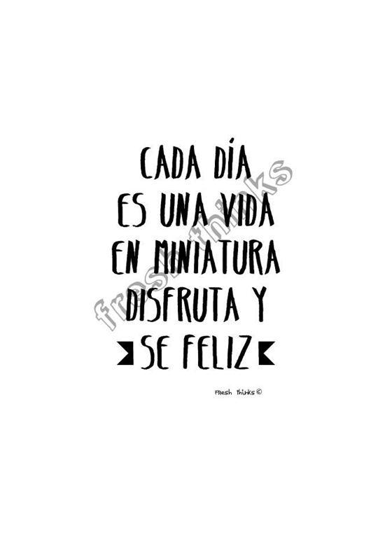 Sólo pensamientos frescos, positivos, alegres.... Buscamos el optimismo y la felicidad. ¿Tienes una frase favorita