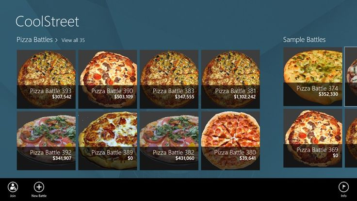 CoolStreet // is a cloud-based micro-economic simulation game in which players own competing pizza shops on 'CoolStreet. ' Pizza shop owners contend for business against each other by configuring their shops in such a way as to maximize market share and earnings.
