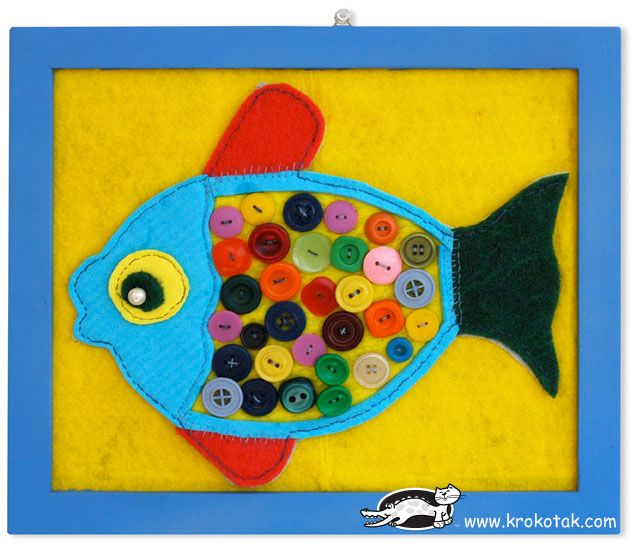Felt and button fish 15 Fish Themed Crafts