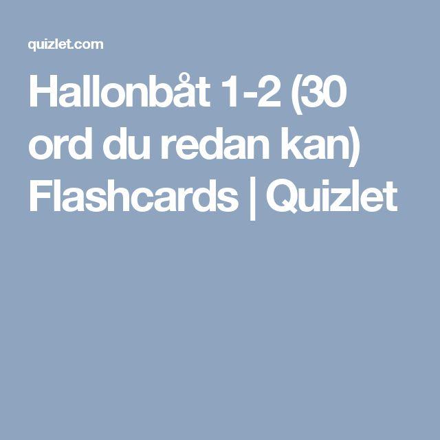 Hallonbåt 1-2 (30 ord du redan kan) Flashcards | Quizlet
