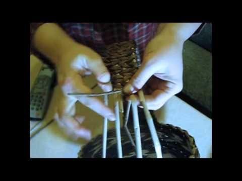 Asas para cestas con periodicos. Parte 2. - YouTube
