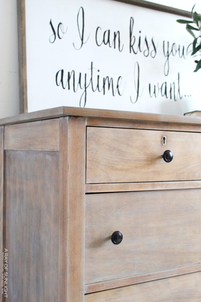 Weathered Wood Dresser Bedroom Furniture Makeover Weathered