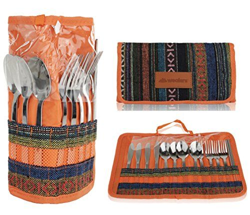 Cutlery Organizer Utensil Travel Set 13 Piece Silverware Display Stand Cotton And Linen Flatware Storage Pouch Travel Kit With Handle For Hiking Picnics B Camping Toilet Camping Kitchen Utensils Camping Kitchen Table