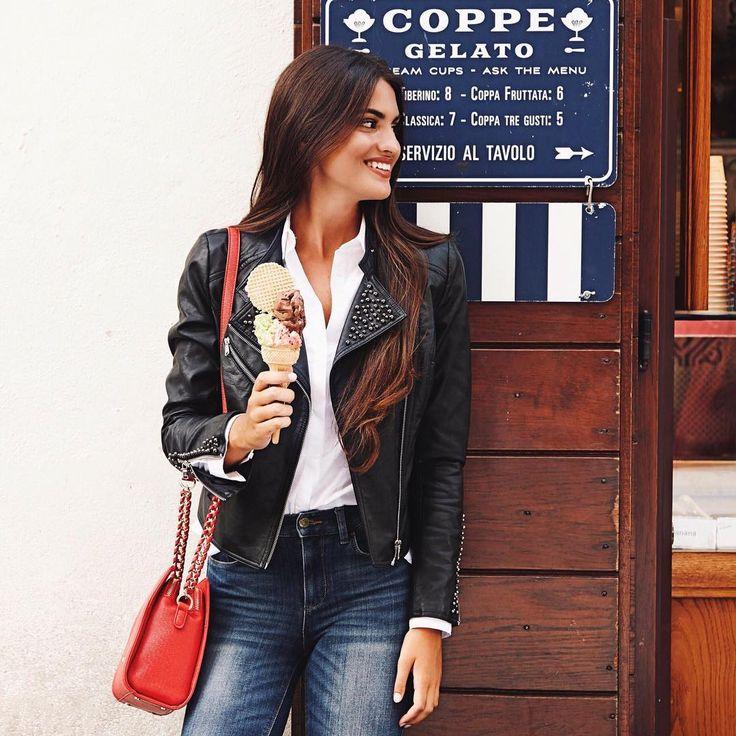 "10.7k Likes, 51 Comments - Marta Lozano Pascual (@martalozanop) on Instagram: ""Gelato time in my hyper feminine #LiuJo denim #MyAmazingFit @liujoglobal"""