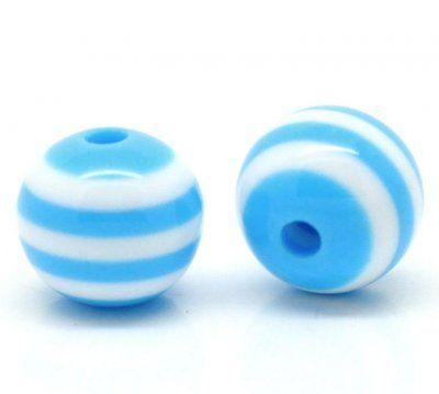 Pärla+ljusblå,+randig+8mm