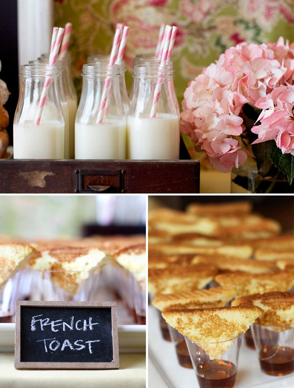 milk jars and french toast: cute bridal shower ideas