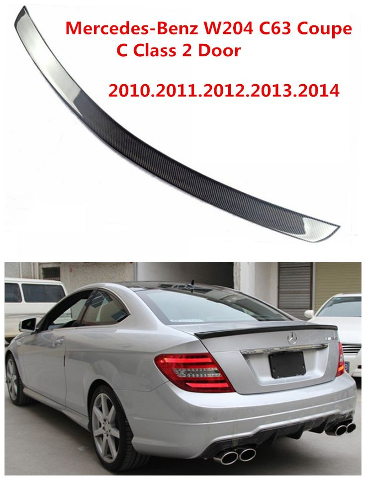 Carbon Fiber Spoiler For Mercedes-Benz W204 C63 Coupe C Class 2 Door 2010-2014 Car Wing Spoilers AMG Style Auto Accessories #Affiliate