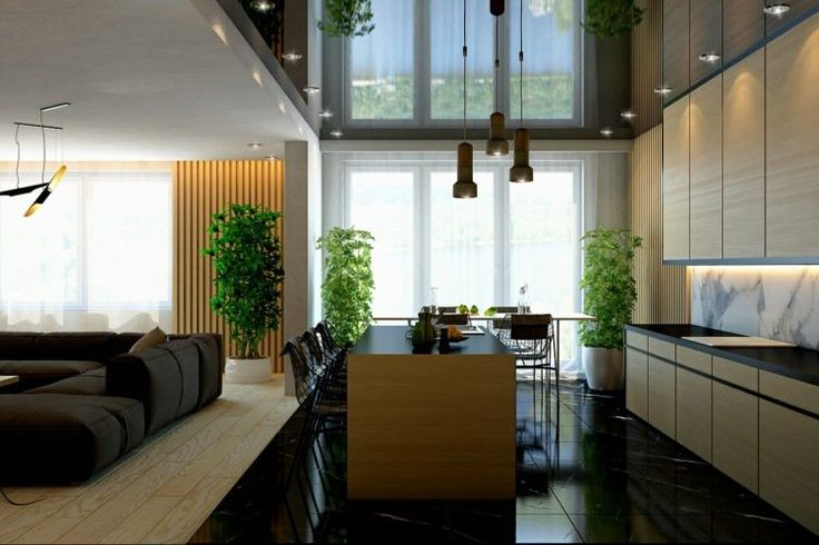 Les concepteurs des maisons ci-dessous ont choisi le revêtement en lamelles de bois, les panneaux décoratifs et le lambris mural design pour accentuer la ..