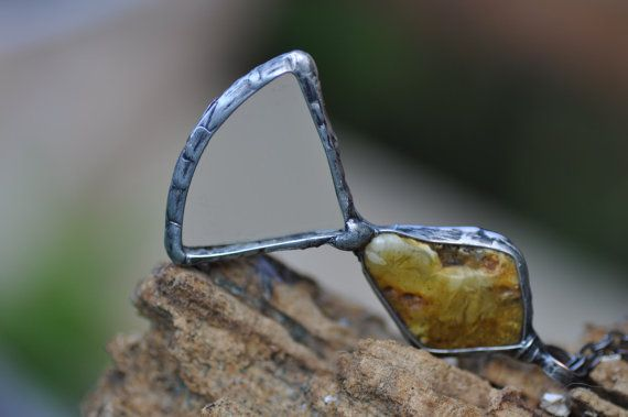 OOAK loupe mother gift baltic amber and magnifying by zolanna