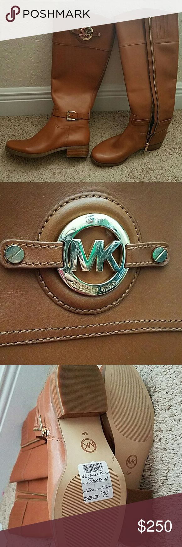 MK boots! Never worn, in perfect condition with sticker on bottom still. MICHAEL Michael Kors Shoes
