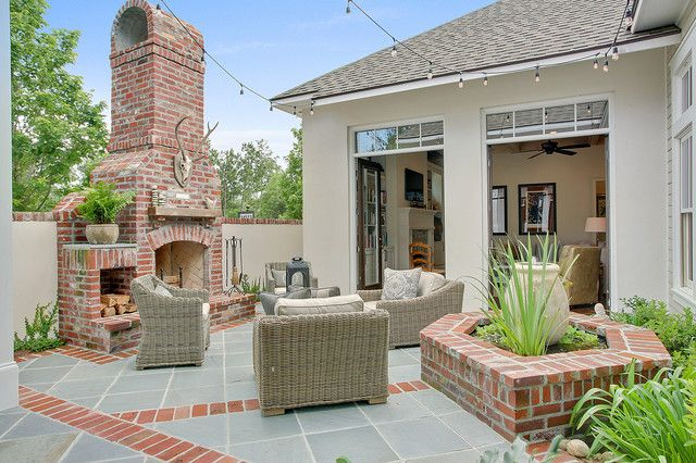outdoor area with concrete and brick