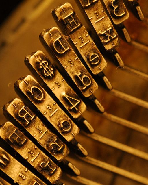 Typewriter keys - I still have a type writer yes, you operate it with like a keyboard but on elevated levels.