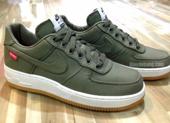 official photos 74034 d4842 low cost nike air force 1 supreme olive green 94173 a362b