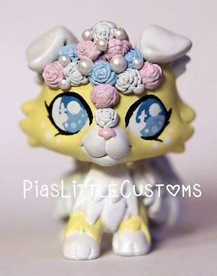 Cute Angel Flower Collie ( Piaslittlecustoms OC) Littlest Pet Shop LPS custom