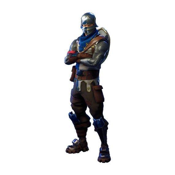 Skin Fortnite Bleu Chapitre 2 Fortnite Blue Squire Character Skin Sticker