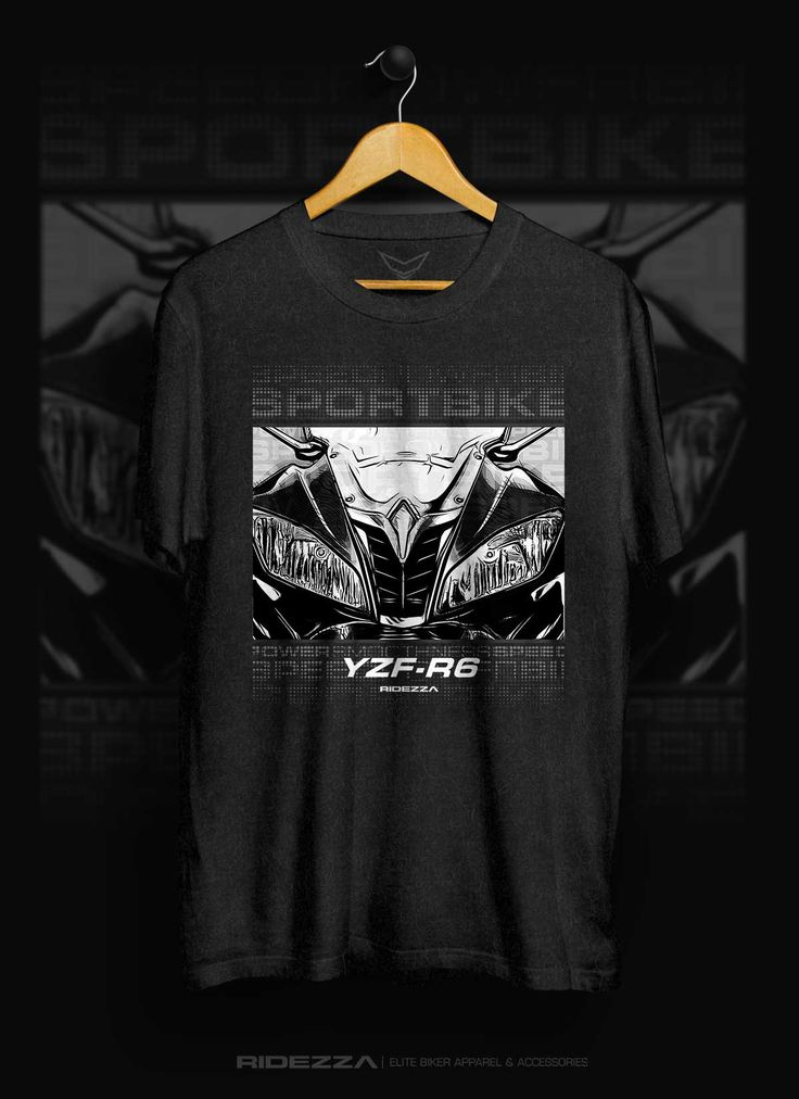 Exclusive Yamaha YZF R6 Apparel. Ride with style wearing this cool YZF R6 T-Shirt. Illustrated and designed by a motorcyclist.