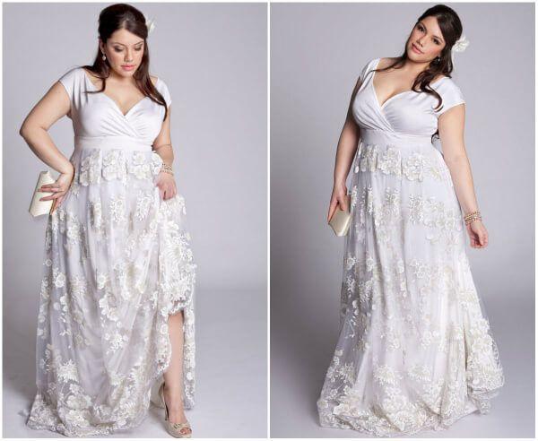 какое свадебное платье подойдет полной девушке