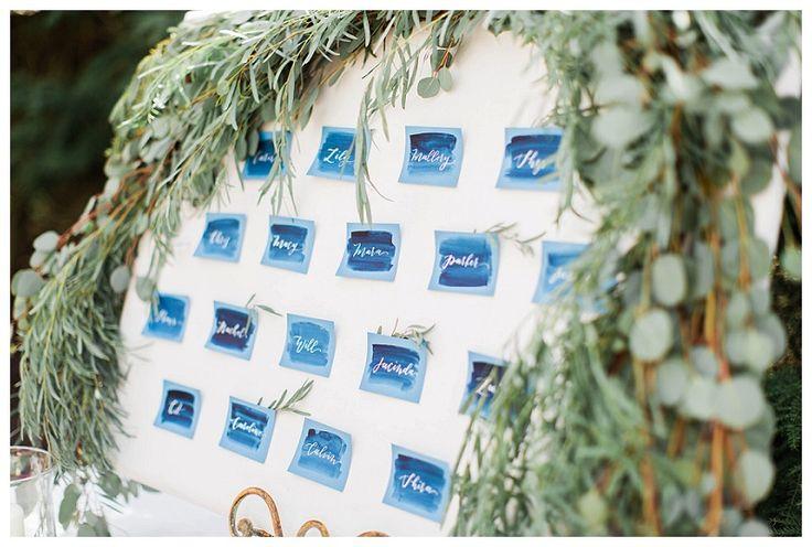 おしゃれで落ち着いた雰囲気がステキ♡結婚式の青でエレガントな席次表まとめ一覧♡