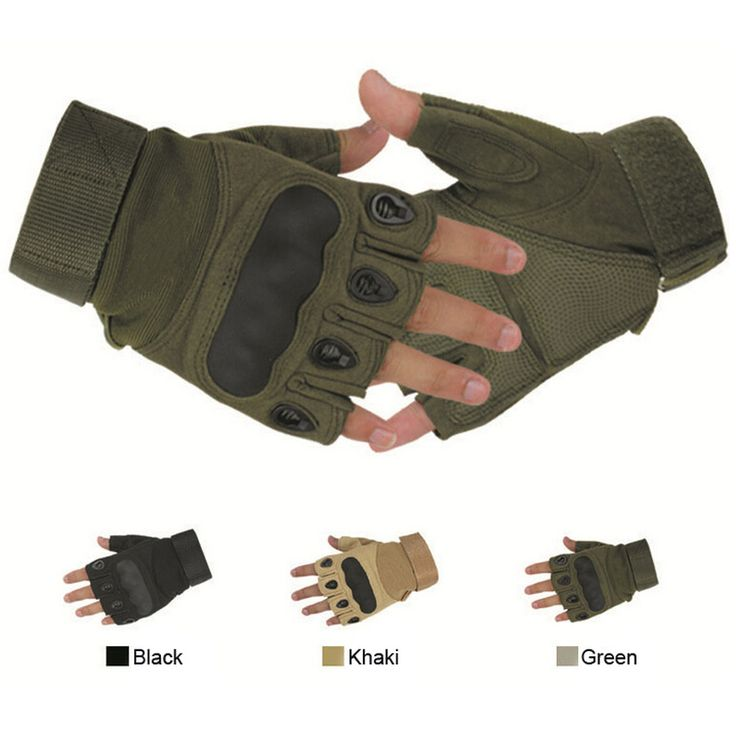 Outdoor Sports Fashion Motorcycle Gloves Unisex Guantes Half Finger Green Black Quality Breathable Glove - Intl | Lazada Singapore