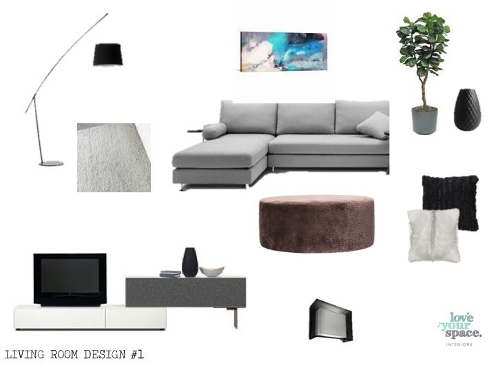 living room  inspiration board - manly apartment