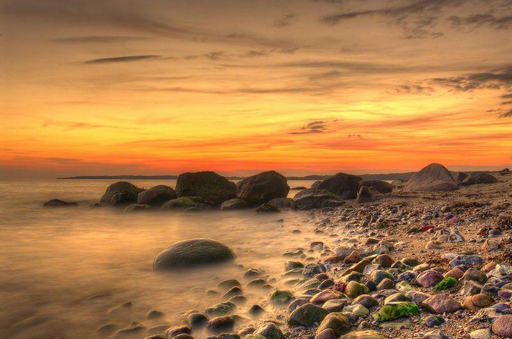 Sunset at Knold, Dyreborg