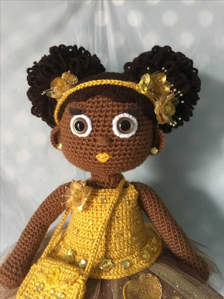 Amigurumi Curly Doll : Curly afro puffs crochet doll hairstyles