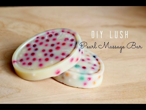 DIY LUSH: Pearl Massage Bar - Bubble Tea Inspired ! - YouTube