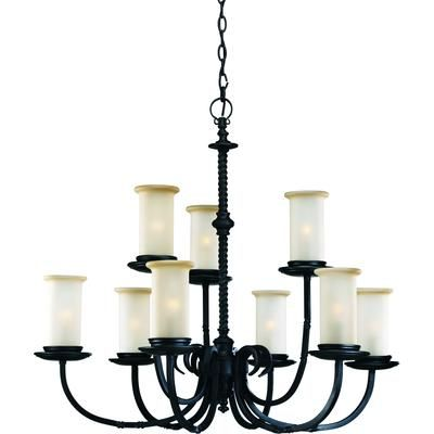 Progress Lighting - Santiago Collection Forged Black 9-light Chandelier - 785247134267 - Home Depot Canada
