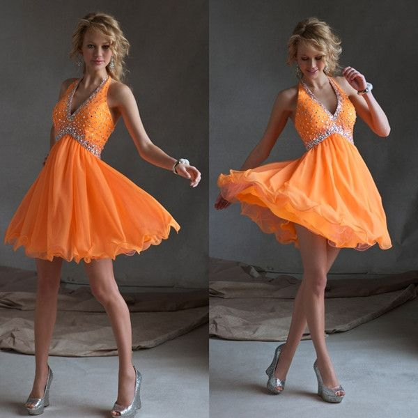 Lovely Halter Beaded Crystal Chiffon Short Orange Homecoming Dresses 2013 Photo, Detailed about Lovely Halter Beaded Crystal Chiffon Short Orange Homecoming Dresses 2013 Picture on Alibaba.com.