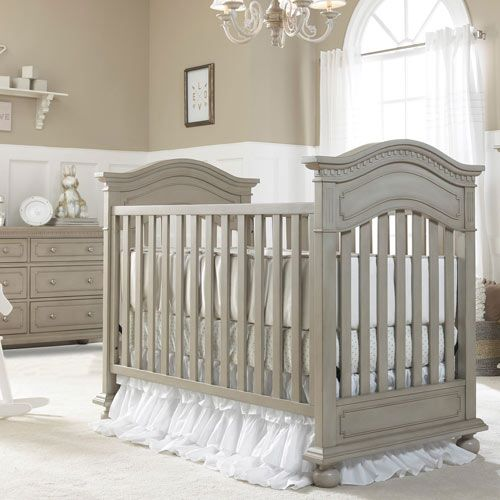Naples Traditional Crib Grey Satin from PoshTots