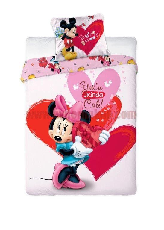 Detské bavlnené obliečky Disney Myška Minnie  200x140 cm