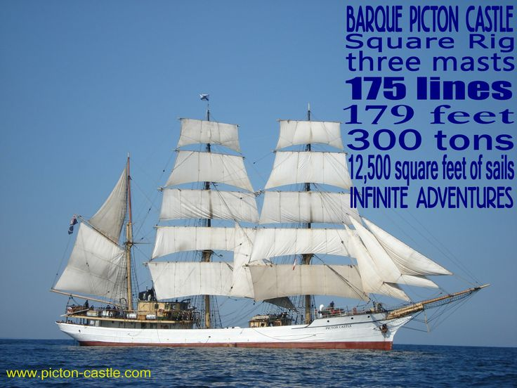 The Barque PICTON CASTLE #sail #ships #tallship #sea #ocean #world #discover #pictoncastle