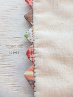 put prairie points on homemade pillowcases - love it and then add hand done blanket stitch!