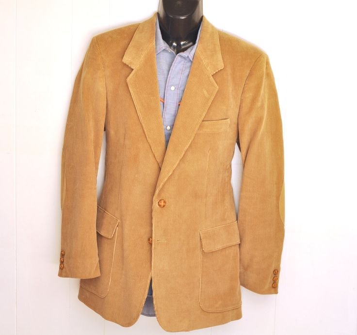 Mens Corduroy Jacket Vintage #Blazer 39Long Medium Tall Leather Elbow Patches Sport Coat #Bohemian #Boho #Preppy #Collegiate by @ArmorOfModernMen.Etsy.com #menswear #mensstyle #vintageclothing #unisexstyle #unisexfashion #mensfashion #dapperman #gentleman #suitsandties