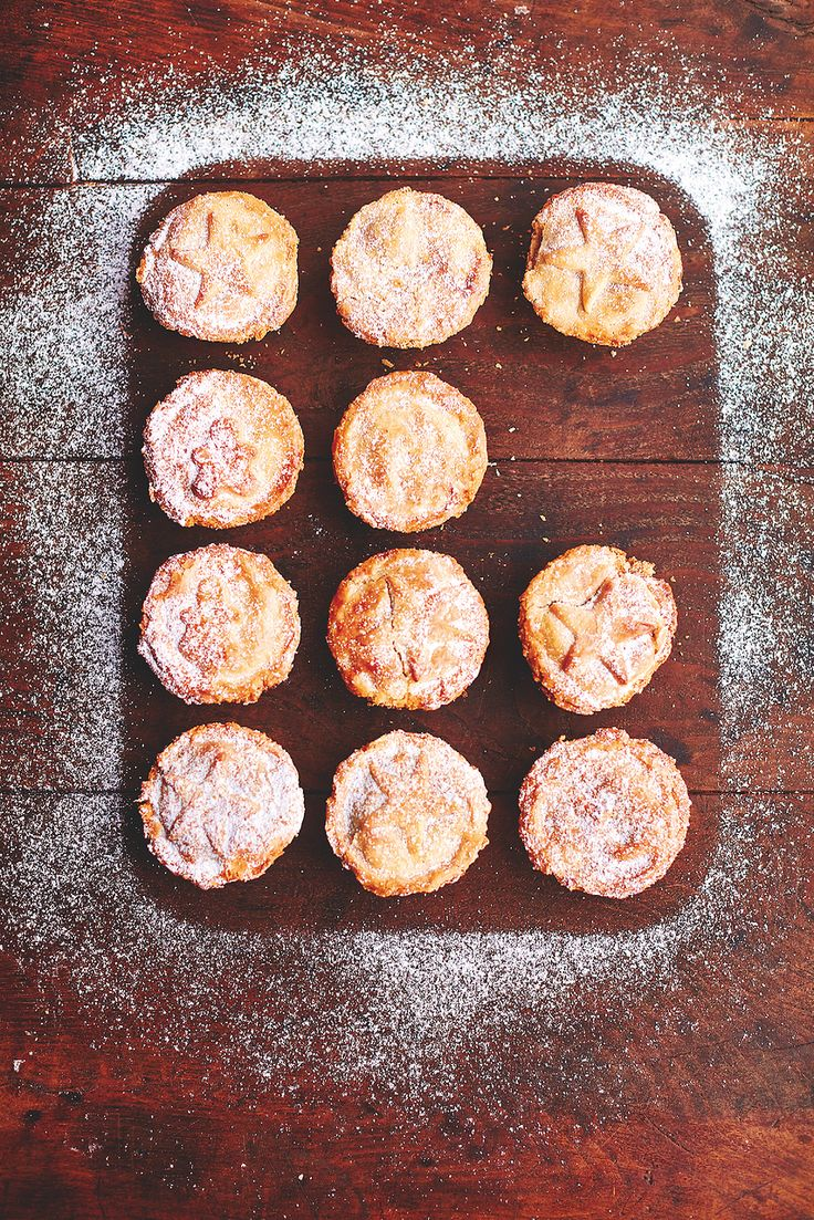 Classic Mince Pies Flaky Pastry, Mincemeat, Sweet Squash, Almonds
