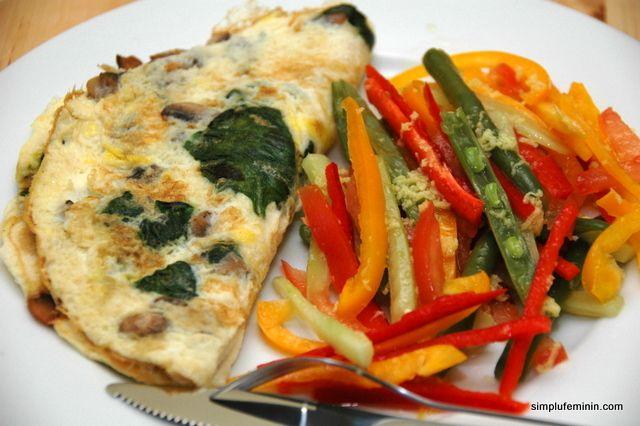 Omleta cu ciuperci si spanac - un mic dejun sanatos si gustos | Simplu Feminin