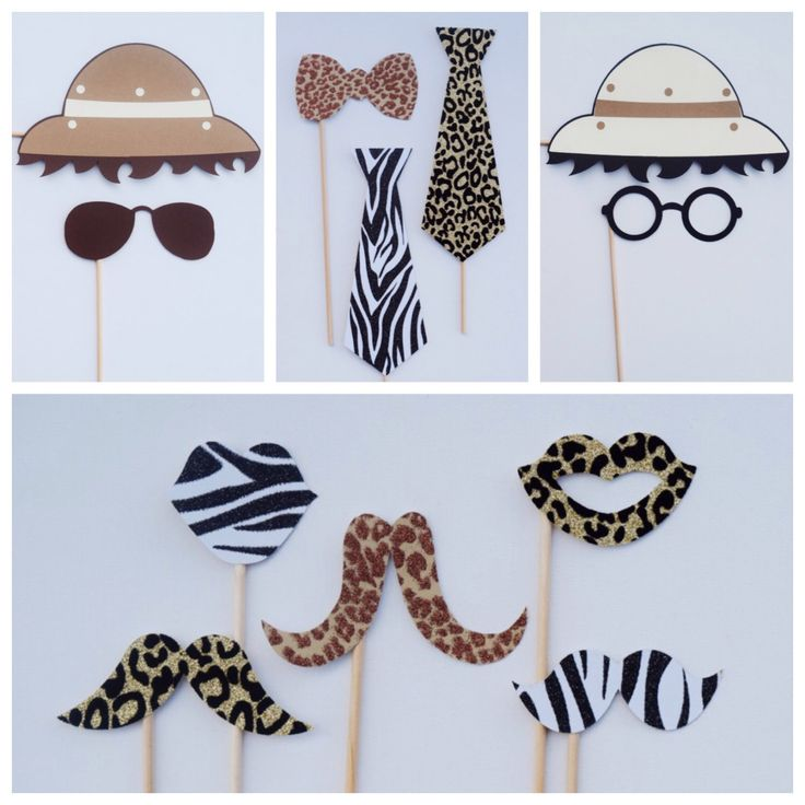 Safari Photo Booth Props ; Animal Print Party Decor ; Jungle Birthday Decoration by LetsGetDecorative on Etsy https://www.etsy.com/listing/470911511/safari-photo-booth-props-animal-print