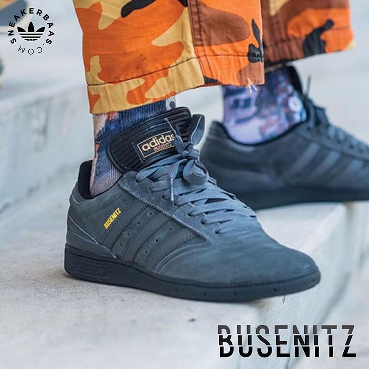 #adidas #originals #adidasoriginals #busenitz #adidasbusenitz #threestripes #sneakerbaas #baasbovenbaas  Adidas Originals Busenitz- A real mid nineties feel from the ''Three Stripes''. The Busenitz comes in a grey colorway for the upper, Adidas branding is done in a light shade of yellow/gold. A long tongue is the eyecatcher of the Busenitz, making it suitable as wintergear, even though of its low design.  Now online available !  Priced at 84,99   Men Sizes 39- 42.5 EU