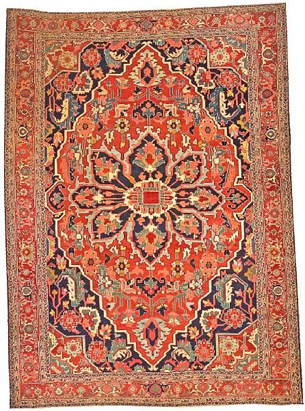 Lot 6206, a Serapi carpet Northwest Persia size approximately 9ft. 4in. x 13ft.