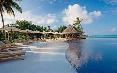 Scarica sfondi mar dei caraibi, hotel, repubblica dominicana, isola tropicale, soggiorno